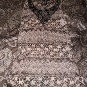 Aeropostal netted casual tank NWOT